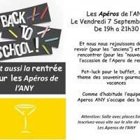 Apéro de l'ANY - Vendredi 7 septembre 2018 19:00-21:30